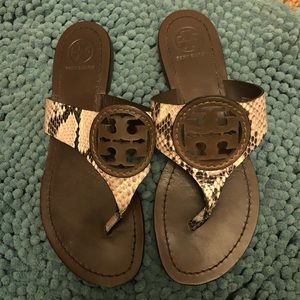 Tory Burch Shoes - Tory Burch Faux Snake Skin Miller Sandals